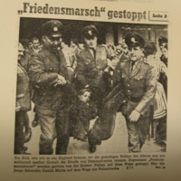CNVA Peace March - Demonstration in Bonn, West Germany